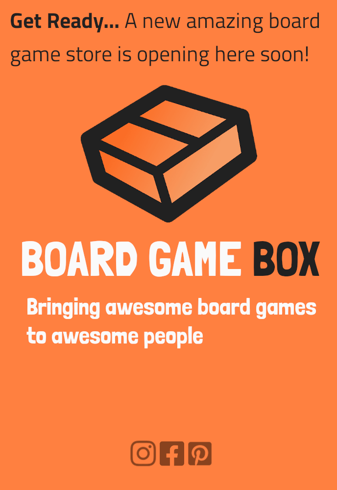 Online board game store boardgamebox.se is opening here soon